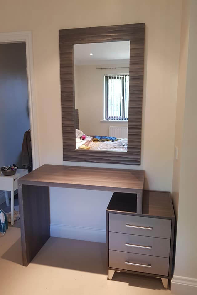 Brown Grey Avola - Harlequinn open frame and Dressing Table