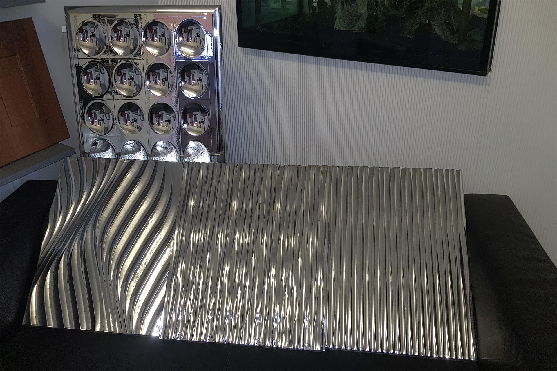 Chrome Ceiling Panels
