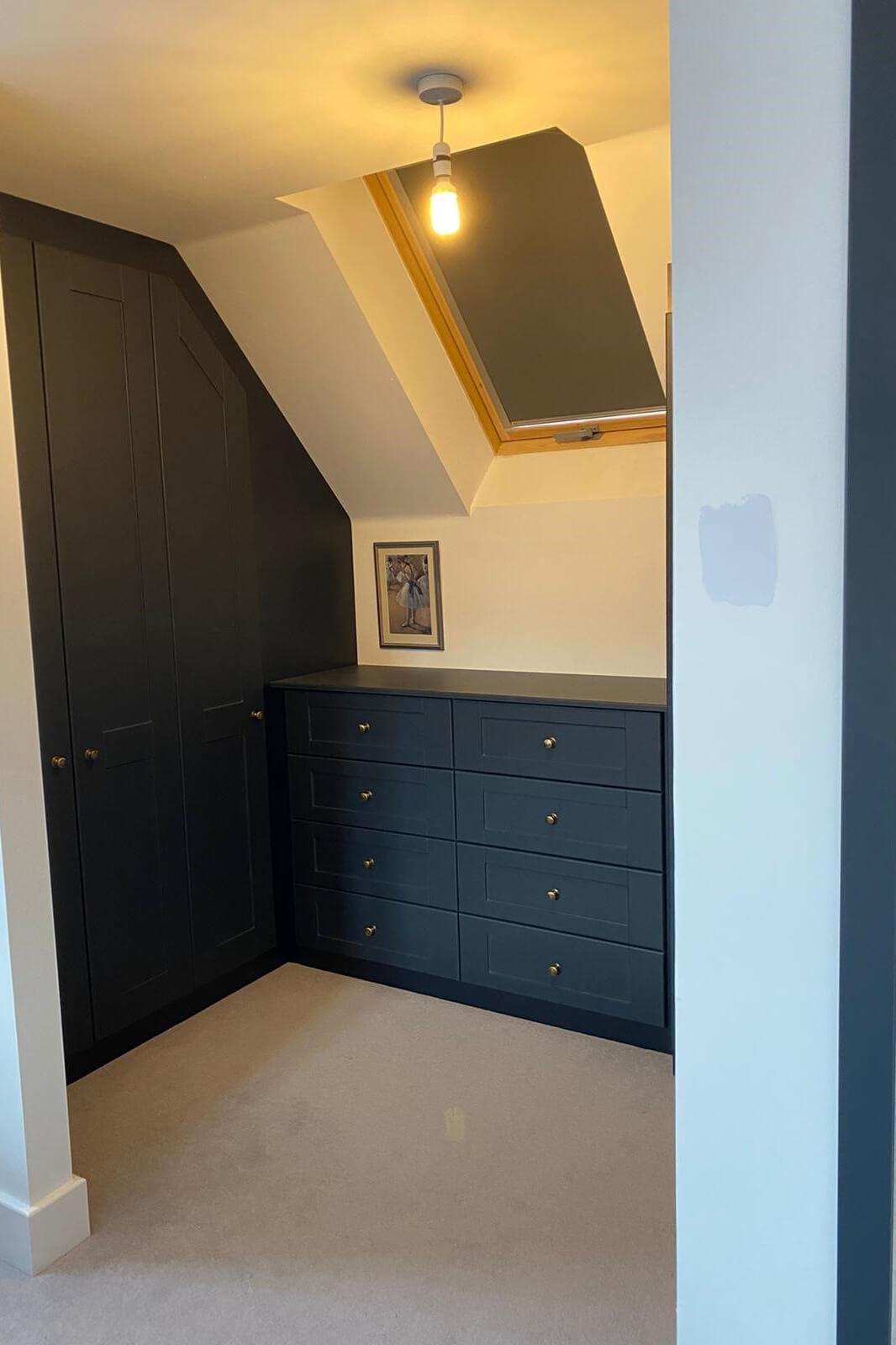 Rebated Shaker Angled Doors - Indigo