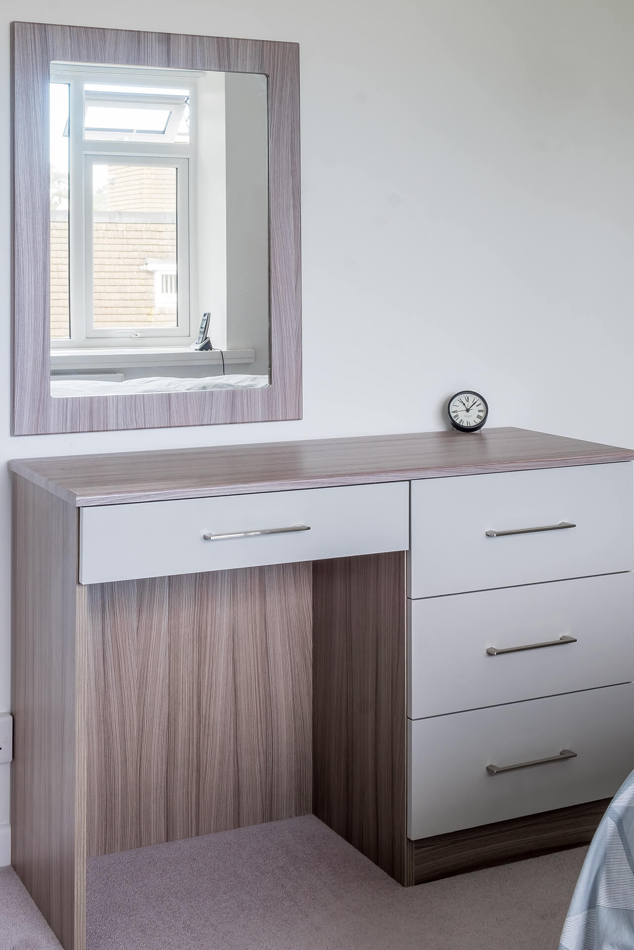 Custom made mirror and dressing table